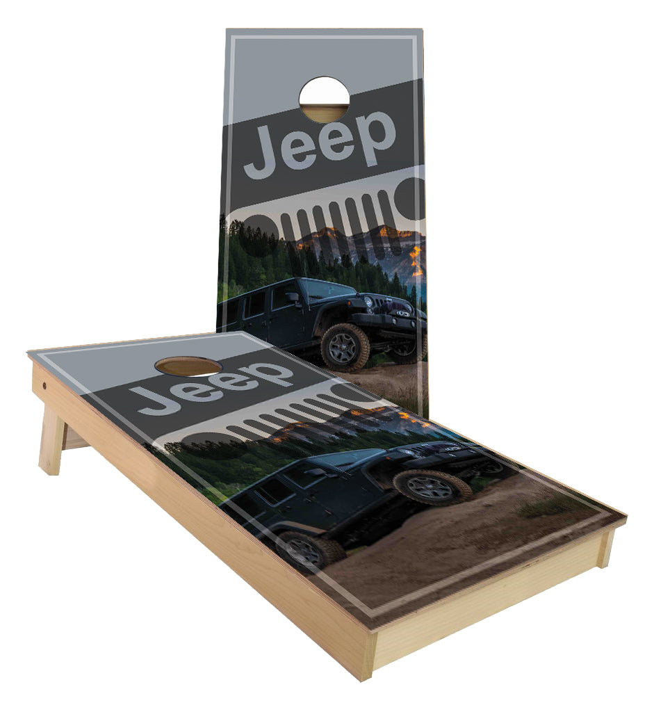 Jeep cornhole boards