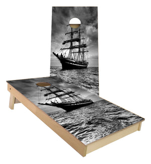 Historic Sailboat cornhole boards