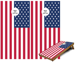USA American Flag Cornhole Wraps