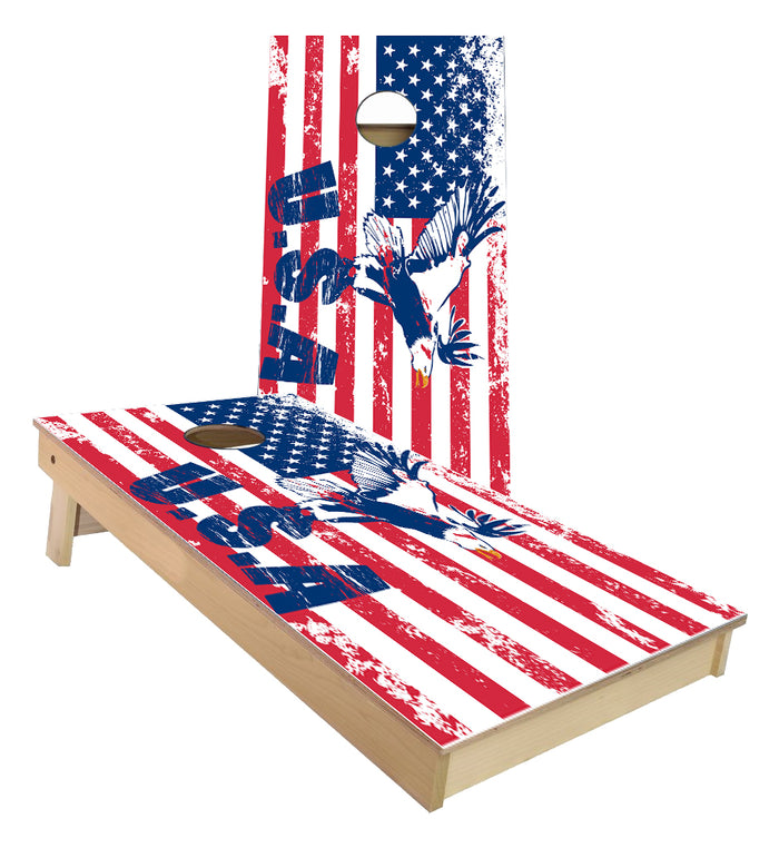 USA Flag with Eagle Cornhole Boards