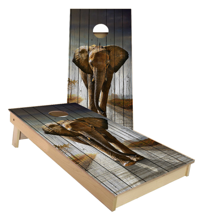 Elephant Walking Cornhole Boards