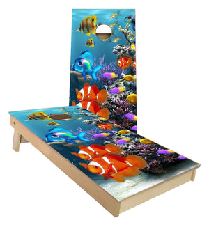 Ocean Fish Cornhole Boards