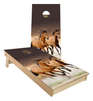 Horses Running Cornhole Boards