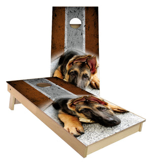 German Sheppard Dog Cornhole Boards