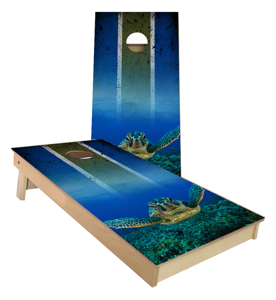 Sea Turtle Cornhole Boards