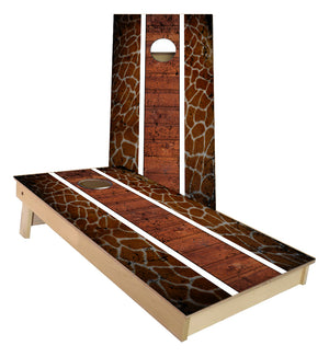 Giraffe Pattern Cornhole Boards
