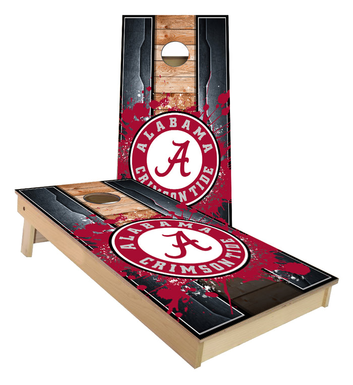 Alabama Crimson Tide Metal edged theme Cornhole Boards