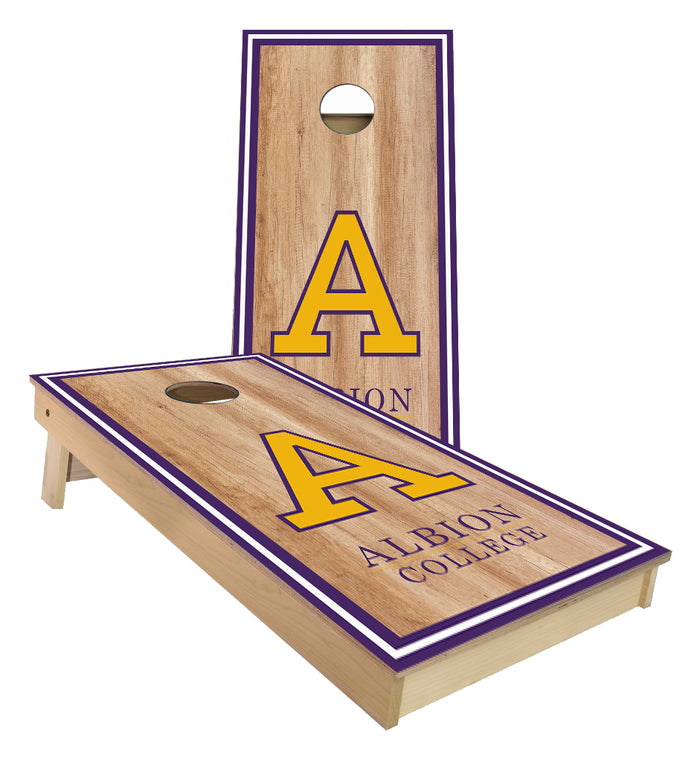 Albion College Michigan cornhole boards