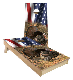American Flag Wild Turkey cornhole boards