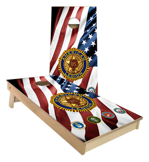American Legion Military Branches US Flag Cornhole Boards