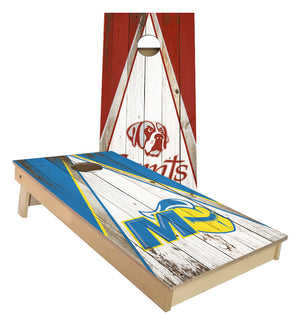 Aquinas Saints and Madonna University custom Cornhole Board set