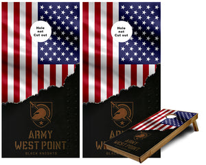 Army West Point Black Knights Cornhole Wraps