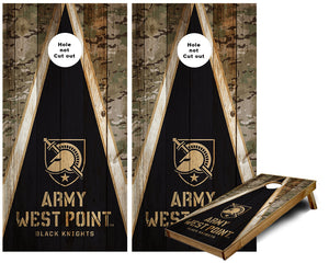 Army West Point Black Knights  Triangle camo Cornhole Wraps