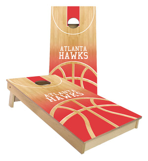 Atlanta Hawks Basketball Court Cornhole Boards