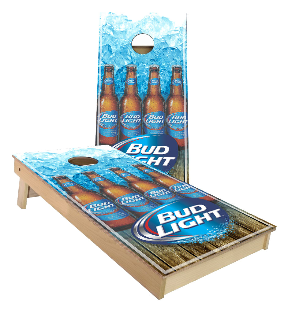 Bud Light Beer Bottles Cornhole Boards