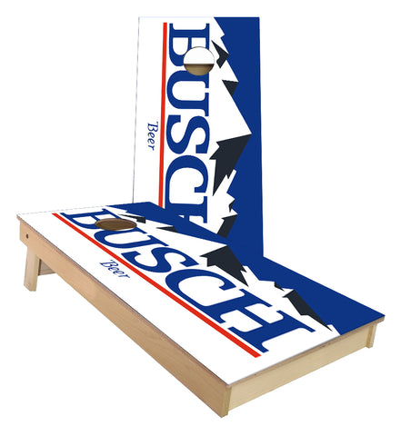 Busch Beer Mountains Cornhole Boards