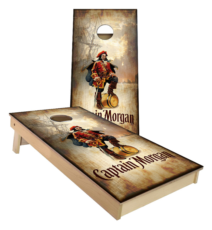 Captain Morgan Pirate Ship Cornhole Boards