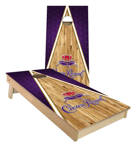 Crown Royal Whiskey Triangle Wood Cornhole Boards
