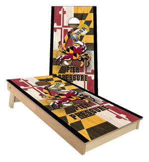 Maryland Flag Drinking Crab Cornhole Boards