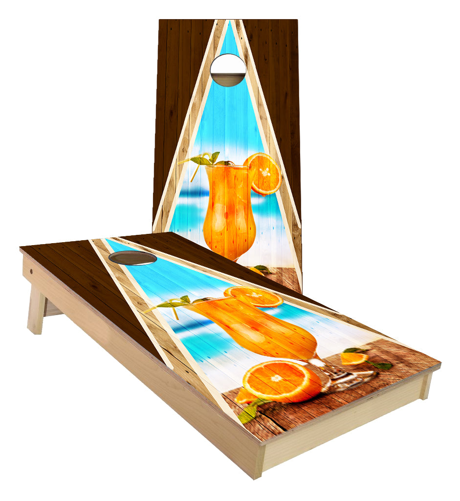Orange Frozen Daquari Cornhole Boards
