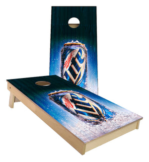 Miller Lite Can of Beer Cornhole Boards