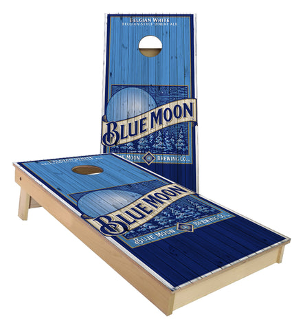 Blue Moon Belgium White Cornhole Boards