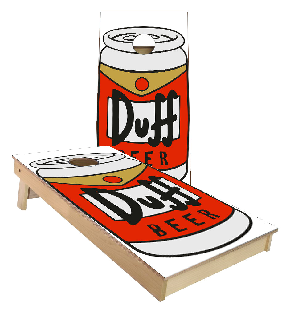 Duff Beer Simpsons Cornhole Boards
