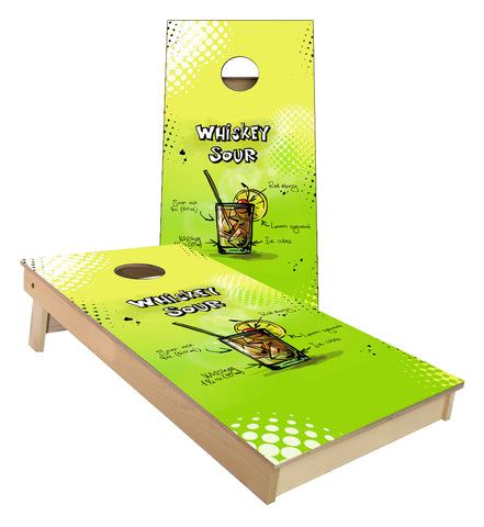 Whiskey Sour Mix Cornhole Boards