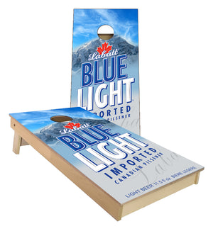 Labatt Blue Light imported cornhole boards