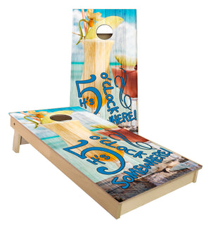 Five O'clock somewhere Cornhole Boards