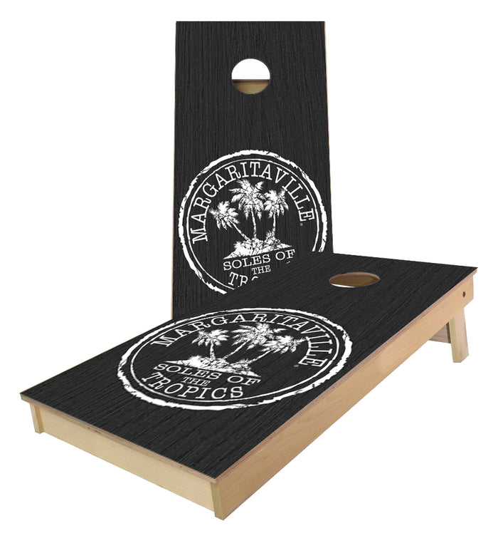 Margaritaville sole of the Tropics cornhole boards