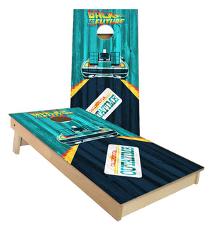 Back to the Future Cornhole Boards