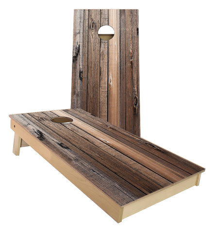 Barn Wood Cornhole Boards