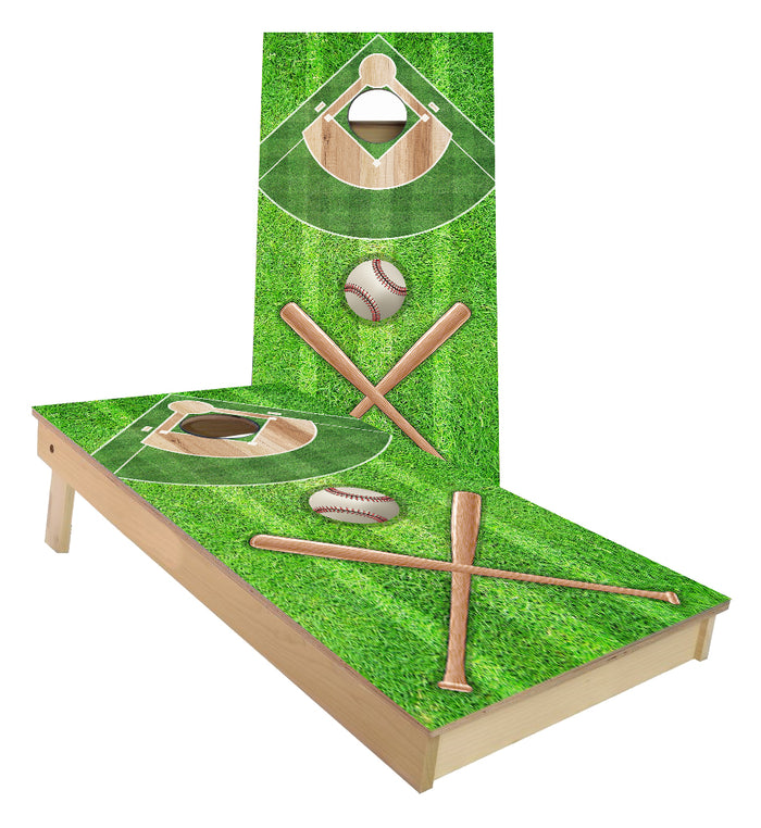 Baseball Diamond cornhole boards