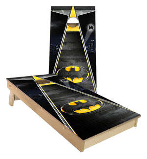 Batman Triangle Theme Cornhole Boards