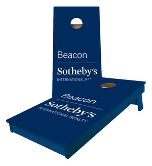 Sothebys custom blue Cornhole Boards