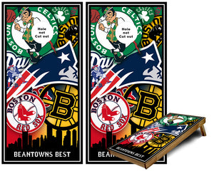 Bean Towns Best Boston Sports Teams Cornhole Wraps