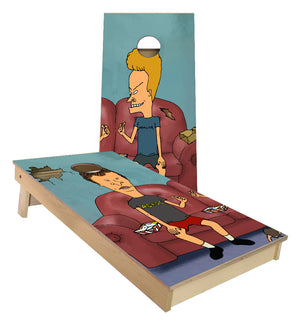 Beavis and Butthead on Sofa cornhole boards