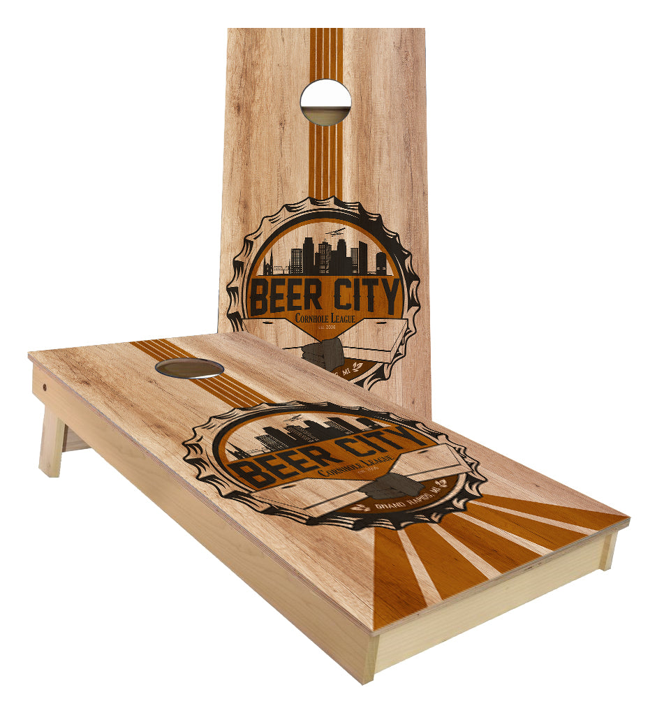 Beer City Cornhole League custom Cornhole Boards