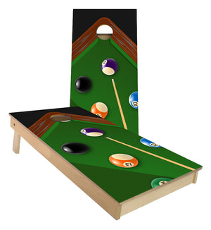 billiards pool table 9 ball rack custom Cornhole Boards