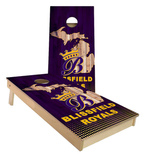 Blissfield Royals Custom Cornhole Boards