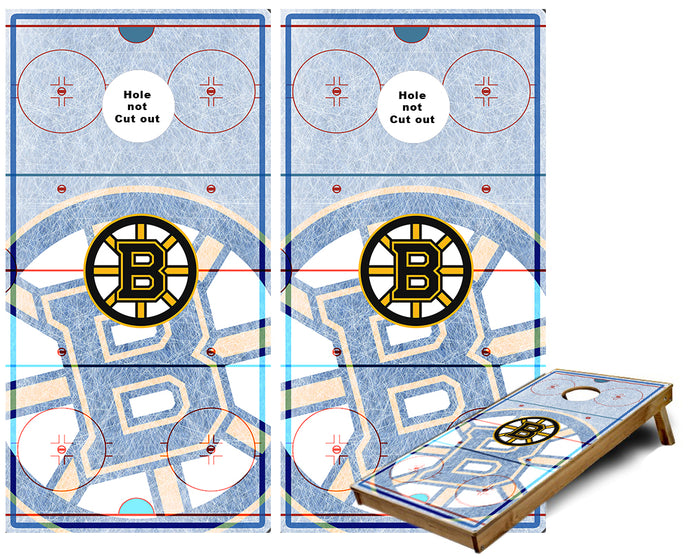 Boston bruins Ice Rink Cornhole Wraps