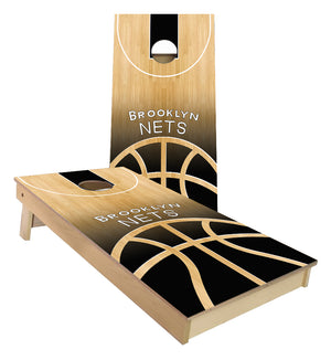 Brooklyn Nets Basketball Court Cornhole Boards