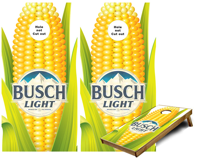 Corn Busch Lite Cob for the farmers Cornhole Wraps
