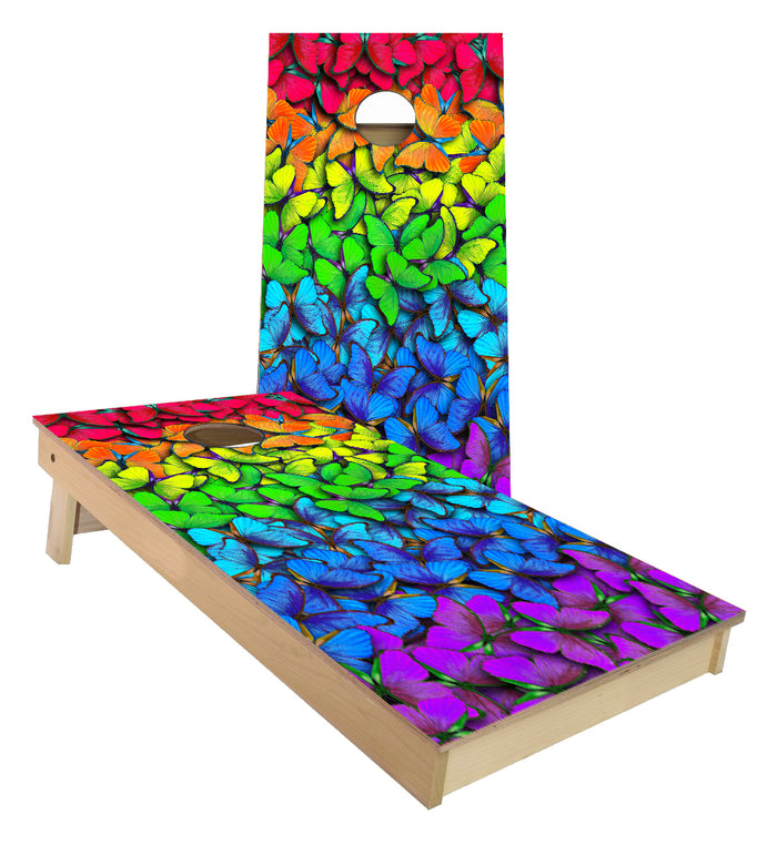 Butterflies Rainbow Colors Cornhole Boards