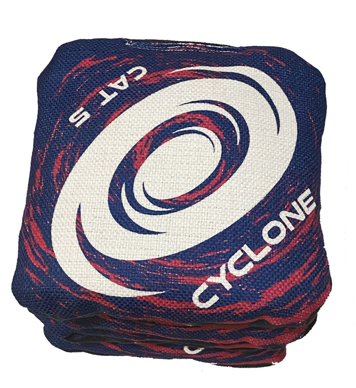 Cyclone  CAT 5 Pro Series Cornhole Bags Navy Blue with Pink Swirl (set of 4)