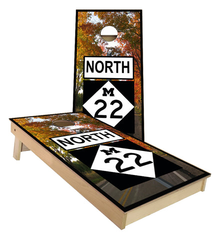 Michigan M 22 Highway Cornhole Boards