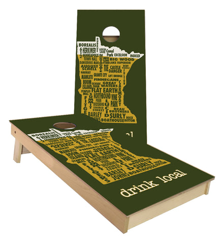 Minnesota Drink Local Cornhole boards