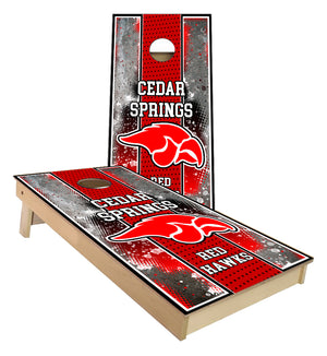 Cedar Springs Red Hawks Cornhole Boards