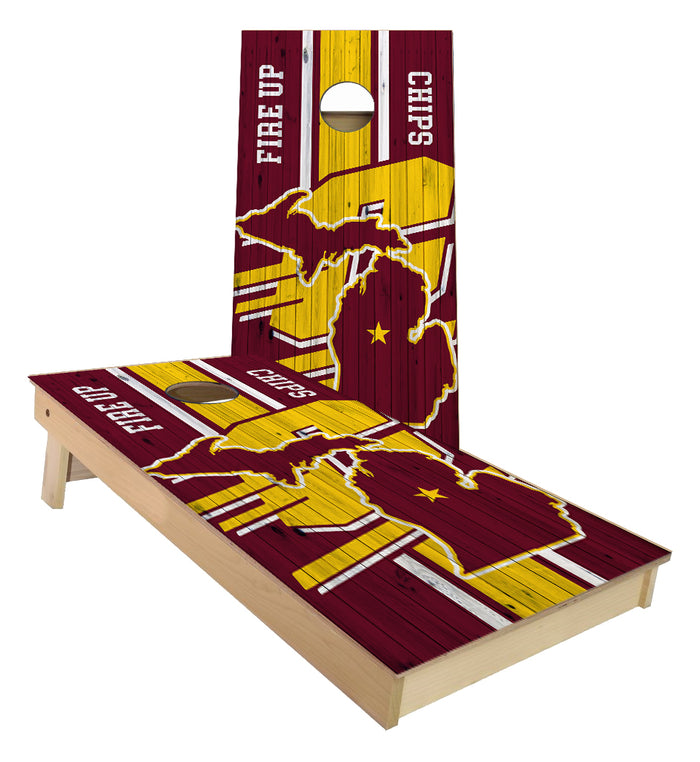 Central Michigan University Chippewas Cornhole Boards